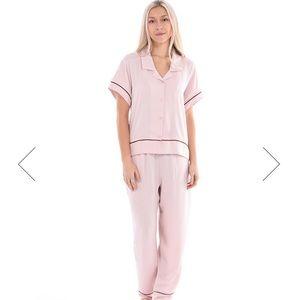 Paper Label Crinkle Satin 50's style sleep shirt